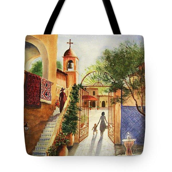 Lingering Spirit-sedona Tote Bag by Marilyn Smith