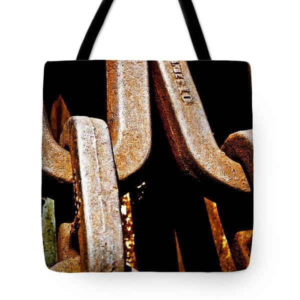 Linked Up Tote Bag by Christi Kraft