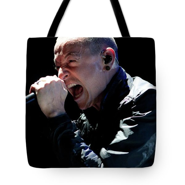 Linkin Park4550 Tote Bag by Timothy Bischoff
