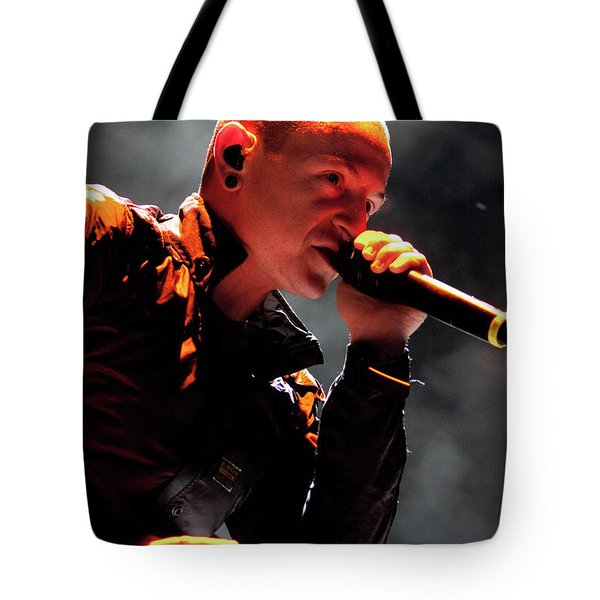 Linkin Park4576 Tote Bag by Timothy Bischoff
