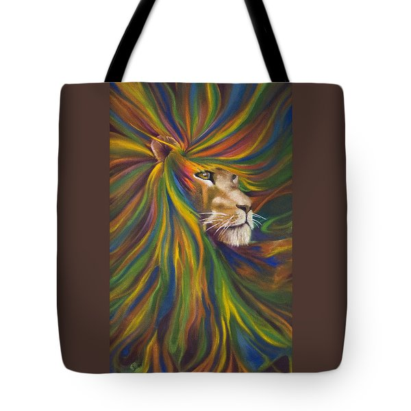 Lion Tote Bag by Kd Neeley