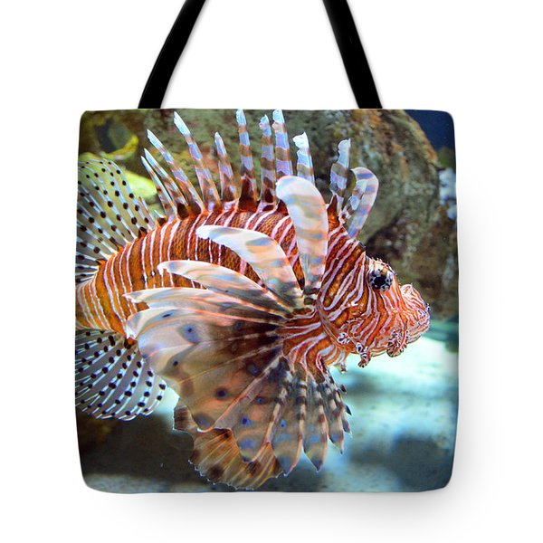 Lionfish Tote Bag by Sandi OReilly