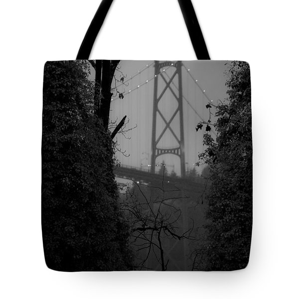 Lions Gate Bridge Tote Bag by Nancy Harrison