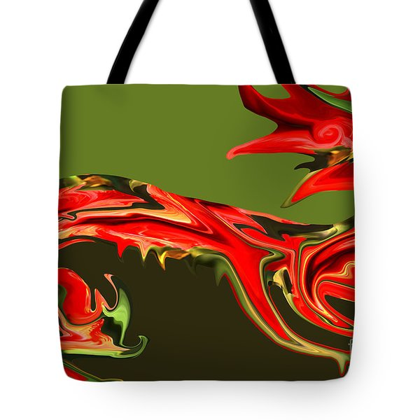 Liquid Dragon Tote Bag by Cheryl Young