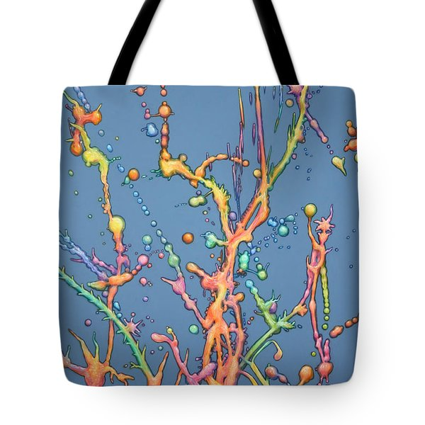 Liquid Rainbow Tote Bag by James W Johnson