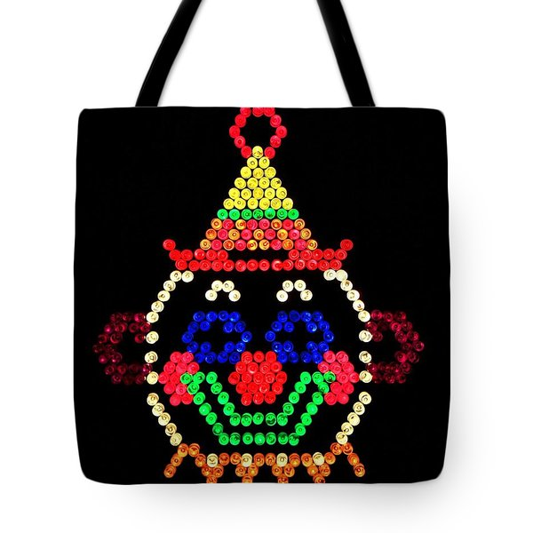 Lite Brite - The Classic Clown Tote Bag by Benjamin Yeager