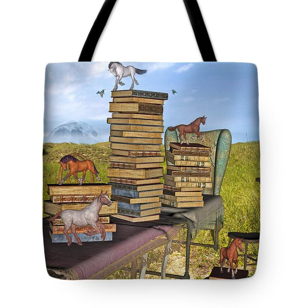 Literary Levels Tote Bag by Betsy Knapp