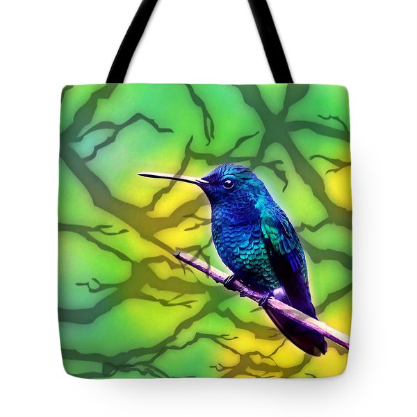 Little Bird On Branch Tote Bag by Lanjee Chee