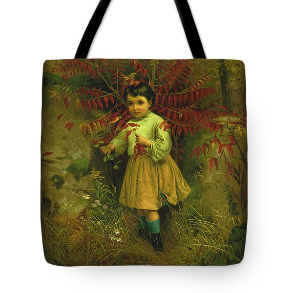 Little Bo Peep 1867 Tote Bag by JG Brown