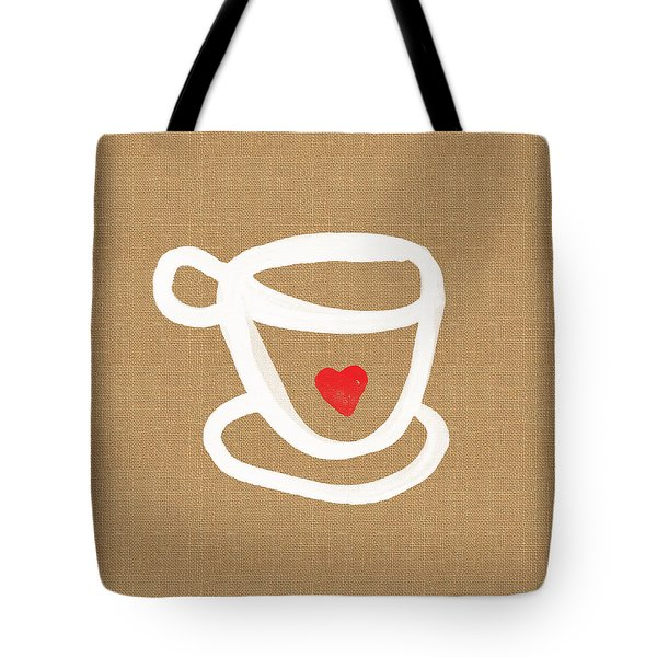 Little Cup Of Love Tote Bag by Linda Woods