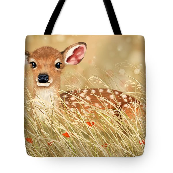 Little Fawn Tote Bag by Veronica Minozzi