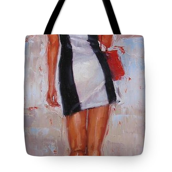 Little Red Bag Tote Bag by Laura Lee Zanghetti