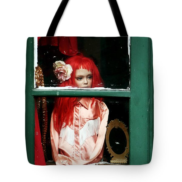 Little Red-haired Girl Tote Bag by John Rizzuto