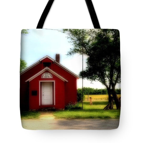 Little Red School House Tote Bag by Kathleen Struckle