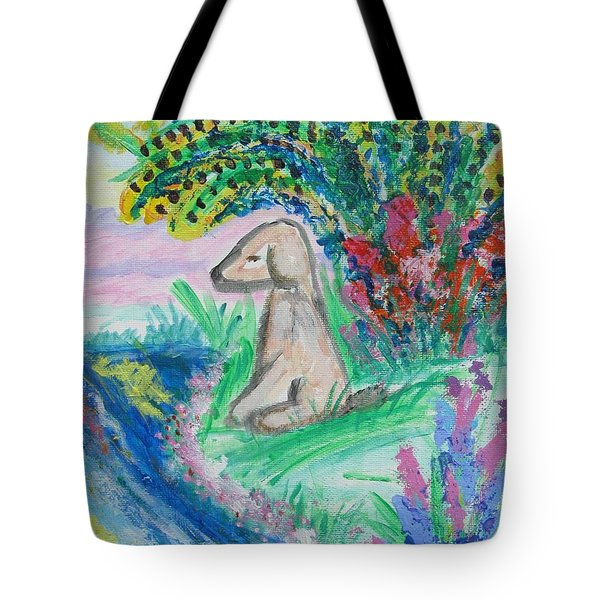 Little Sweet Pea Tote Bag by Diane Pape