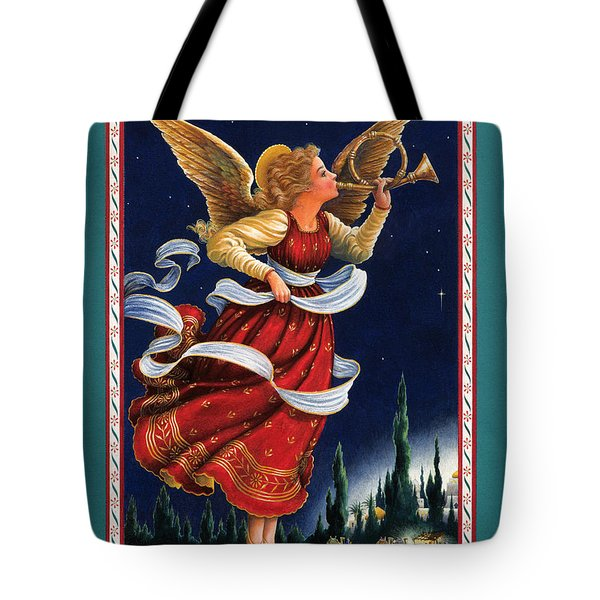 Little Town Of Bethlehem Tote Bag by Lynn Bywaters