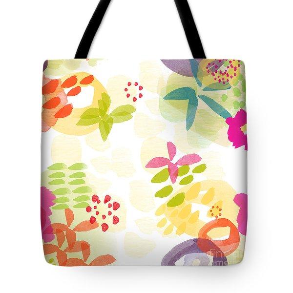 Little Watercolor Garden Tote Bag by Linda Woods
