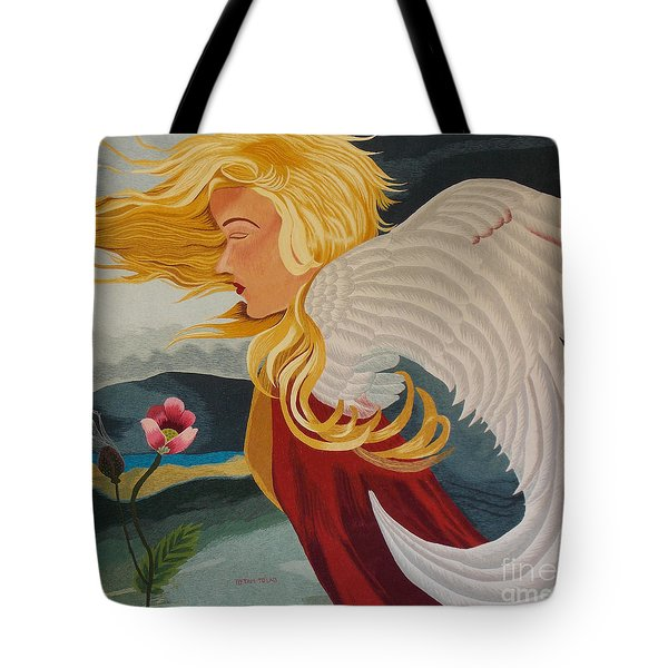 Little Wings Hand Embroidery Tote Bag by To-Tam Gerwe