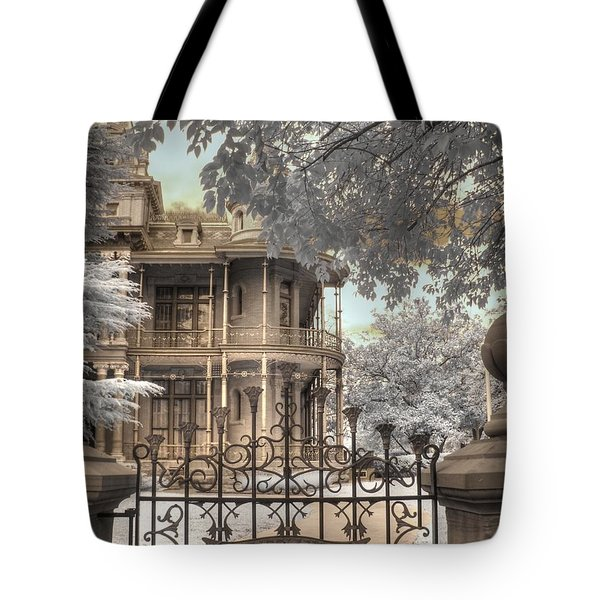 Littlefield home Tote Bag by Jane Linders