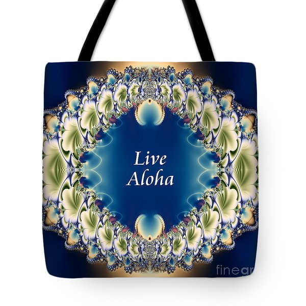 Live Aloha Tote Bag by Renee Trenholm