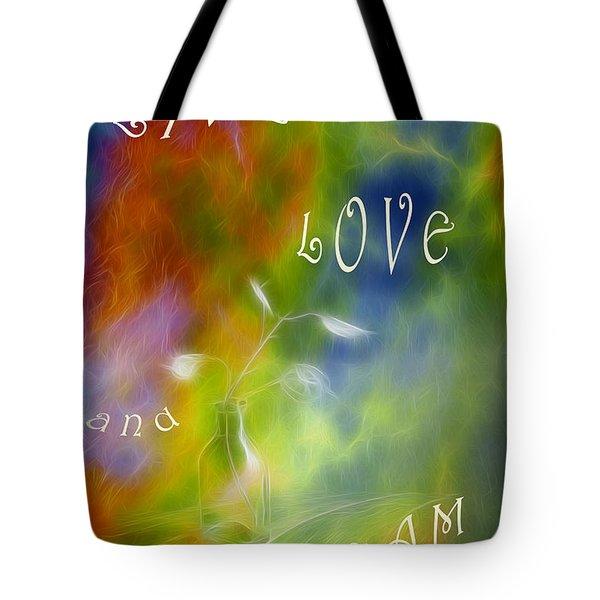 Live Love and Dream Tote Bag by Veikko Suikkanen
