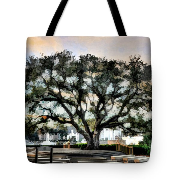 Live Oak Artistic Trendering Tote Bag by Dan Friend