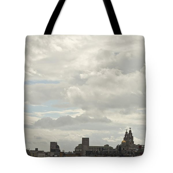 Liverpool Skyline Tote Bag by Georgia Fowler