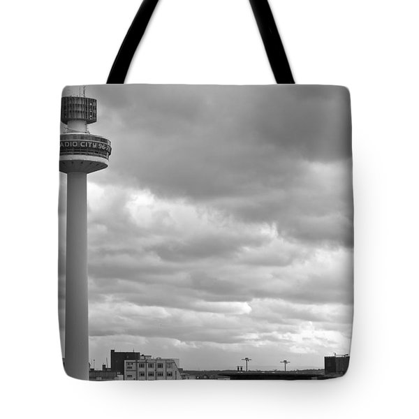 Liverpool Skyline With Radio City Tower Tote Bag by Nomad Art And  Design