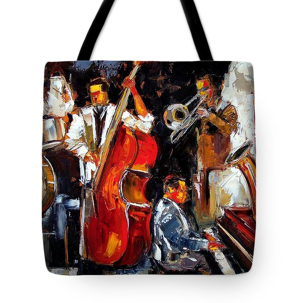 Living Jazz Tote Bag by Debra Hurd