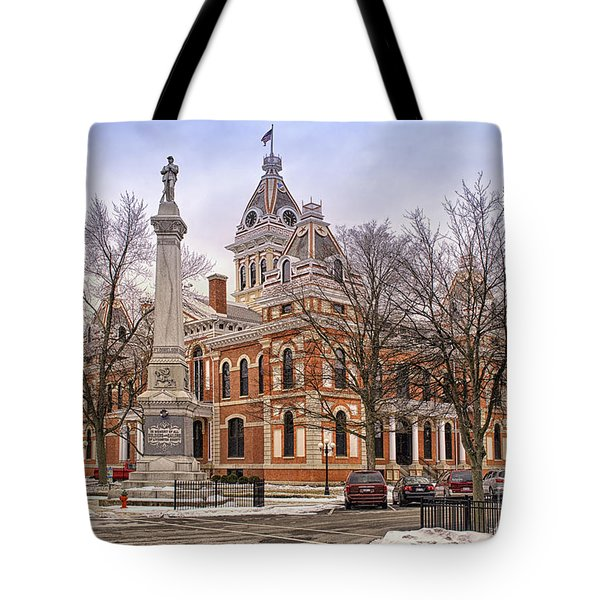 Livingston County Courthouse 06 Pontiac Il Tote Bag by Thomas Woolworth