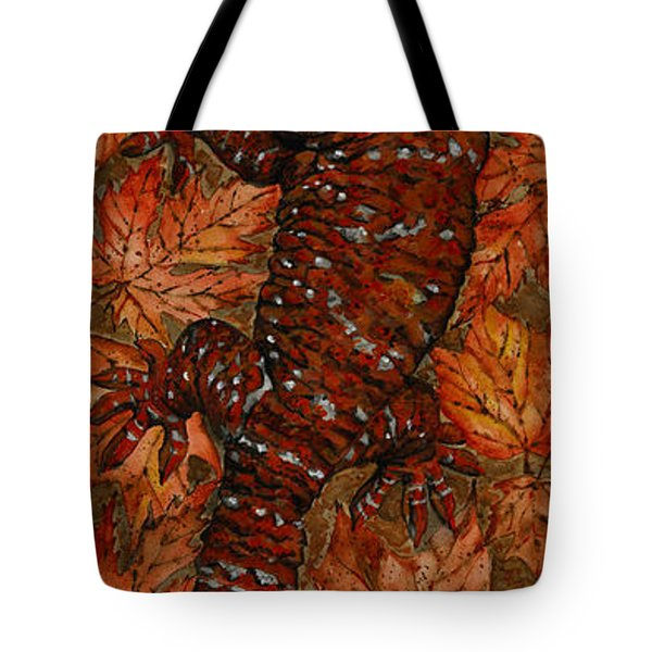 Lizard In Red Nature - Elena Yakubovich Tote Bag by Elena Yakubovich