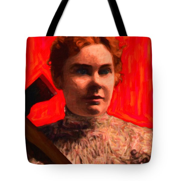 Lizzie Bordon Took An Ax - Painterly - Red Tote Bag by Wingsdomain Art and Photography
