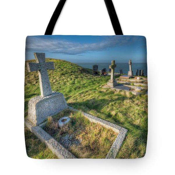 Llanbadrig Cemetery Tote Bag by Adrian Evans