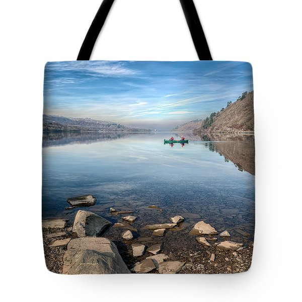 Llanberis Lake Tote Bag by Adrian Evans