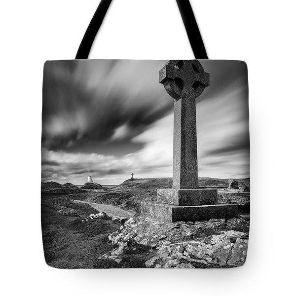 Llanddwyn Island Tote Bag by Dave Bowman