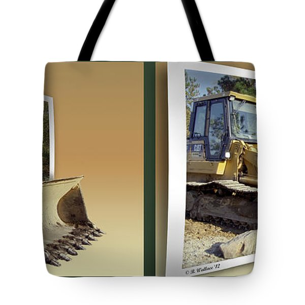 Loader - Cross your eyes and focus on the middle image Tote Bag by Brian Wallace