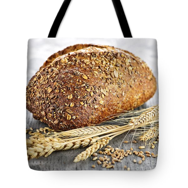 Loaf of multigrain bread Tote Bag by Elena Elisseeva