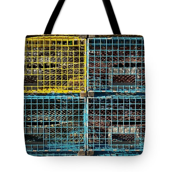 Lobster Traps Tote Bag by Stuart Litoff