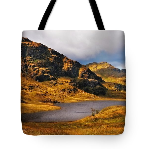 Loch Restil. Rest And Be Thankful. Scotland Tote Bag by Jenny Rainbow