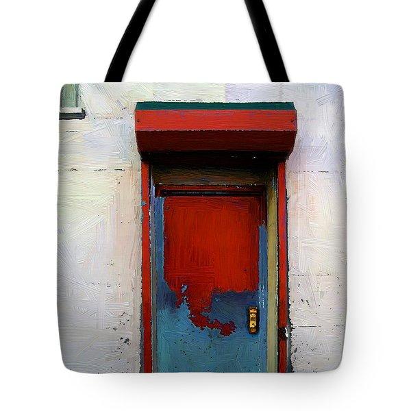 Locked Door, Hell's Kitchen Tote Bag by RC deWinter