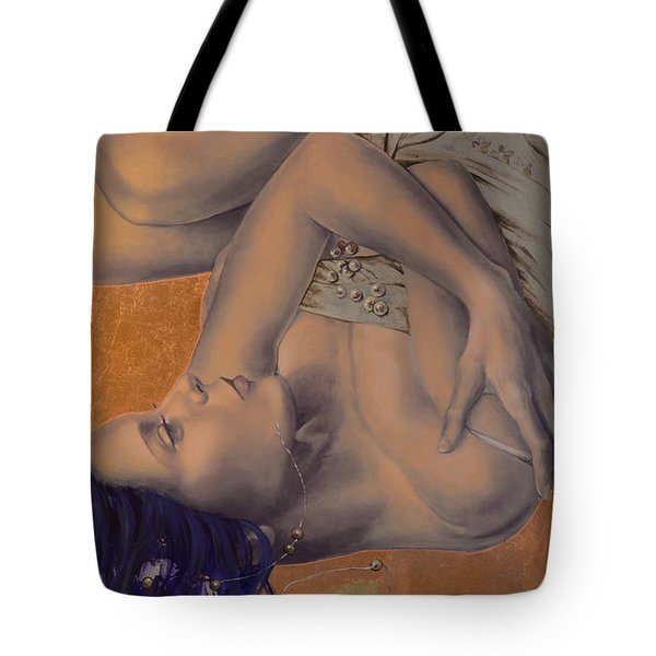 Locked in Silence Tote Bag by Dorina  Costras