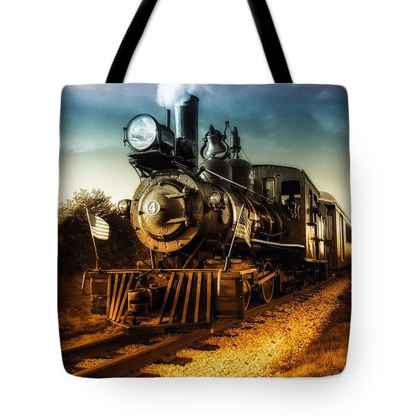 Locomotive Number 4 Tote Bag by Bob Orsillo