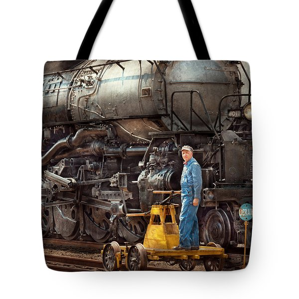 Locomotive - The Gandy Dancer  Tote Bag by Mike Savad