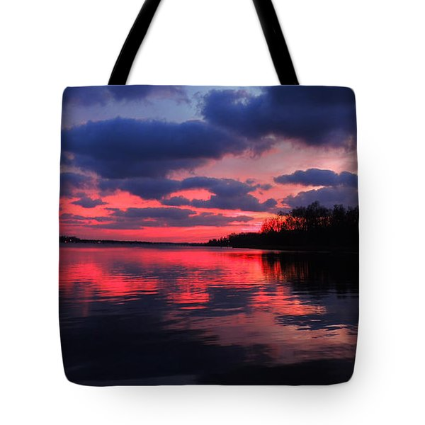 Locust Sunset Tote Bag by Raymond Salani III