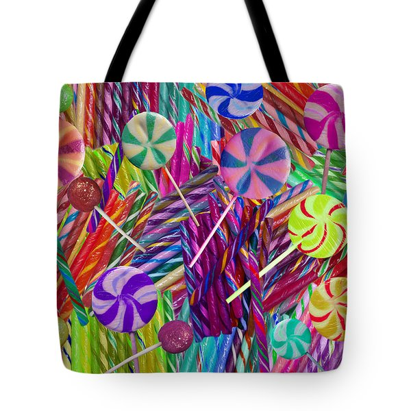 Lolly Pop Twists Tote Bag by Alixandra Mullins