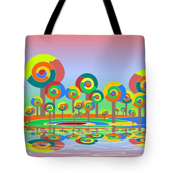 Lollypop Island Tote Bag by Anastasiya Malakhova