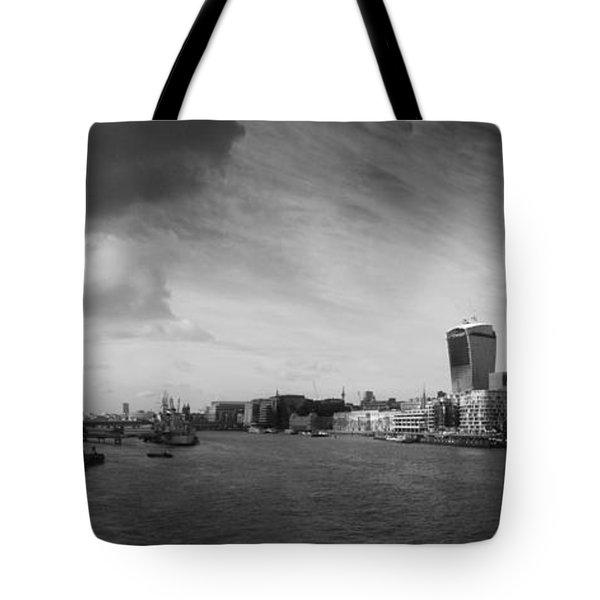 London City Panorama Tote Bag by Pixel Chimp