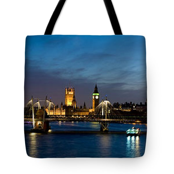 London Eye And Central London Skyline Tote Bag by Panoramic Images