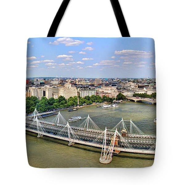 London Panorama Tote Bag by Mariola Bitner