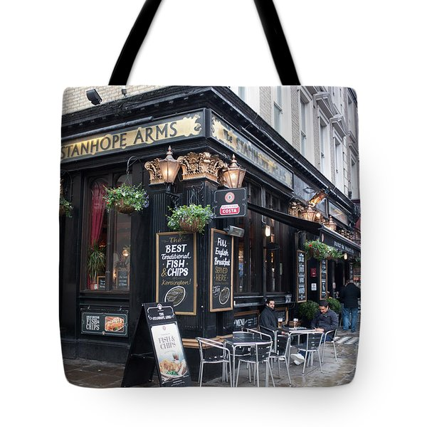 London Pub Tote Bag by Thomas Marchessault